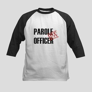 Off Duty Parole Officer Kids Baseball Jersey