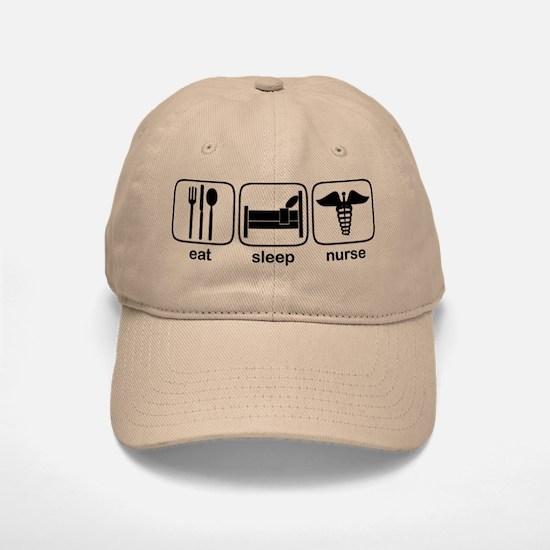 Eat Sleep Nurse Baseball Baseball Cap