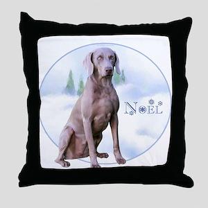 Weimaraner Noel Throw Pillow