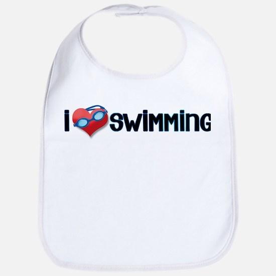 i heart swimming Bib