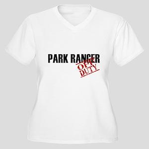 Off Duty Park Ranger Women's Plus Size V-Neck T-Sh
