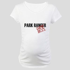 Off Duty Park Ranger Maternity T-Shirt