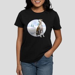 Whippet Noel Women's Dark T-Shirt