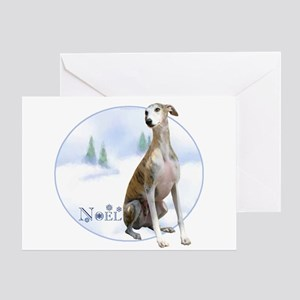 Whippet Noel Greeting Card