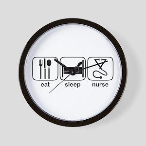 Eat Sleep Nurse 2 Wall Clock