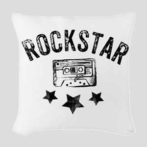 Rockstar Woven Throw Pillow