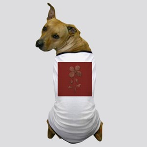 Cute Copper Flower Red Canvas Dog T-Shirt