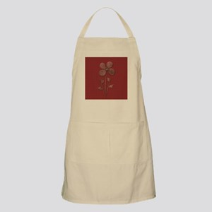 Cute Copper Flower Red Canvas Apron
