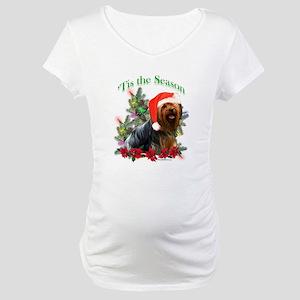 Yorkie Noel Maternity T-Shirt