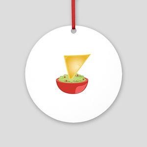 Avacado Dip Round Ornament
