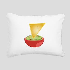 Avacado Dip Rectangular Canvas Pillow