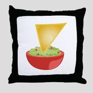 Avacado Dip Throw Pillow