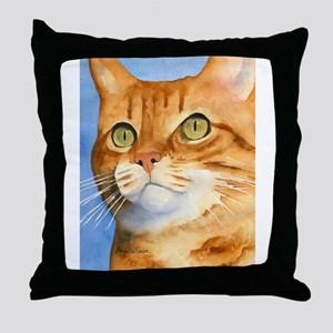 Red / Orange Tabby Throw Pillow