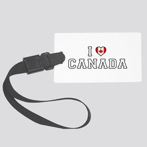 I Love Canada Large Luggage Tag