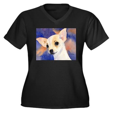 Chihuahua 5 Women's Plus Size V-Neck Dark T-Shirt