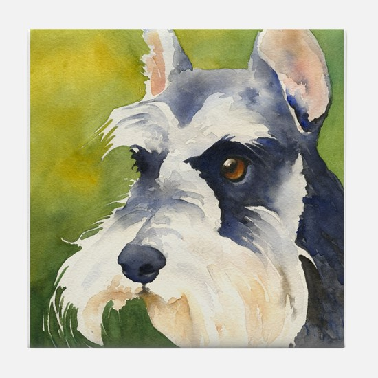 Miniature Schnauzer 3 Tile Coaster