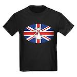 Mod Evil Scooter Kitty Kids Dark T-Shirt
