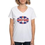 Mod Evil Scooter Kitty Women's V-Neck T-Shirt