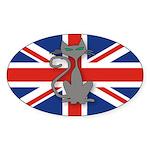 Mod Evil Scooter Kitty Oval Sticker