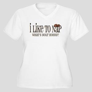I Like To Nap Dog Women's Plus Size V-Neck T-Shirt