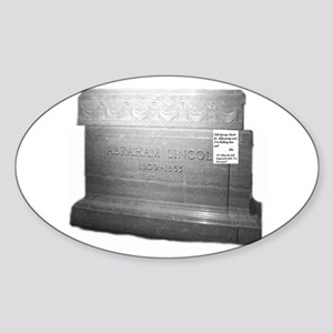 Abraham Lincoln 1 Oval Sticker