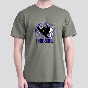 THINK SNOW. Dark T-Shirt
