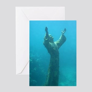 Christ of the Abyss Blank Greeting Card