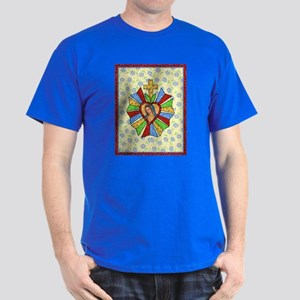 Heart Milagro with Cross Dark T-Shirt