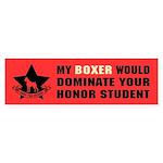 Boxer - Honor Student Domination Bumper Sticker