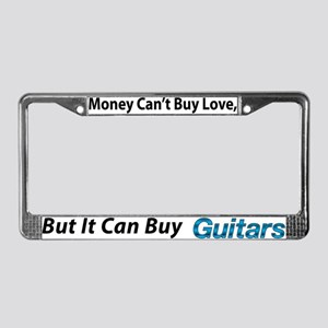Money&Guitars License Plate Frame