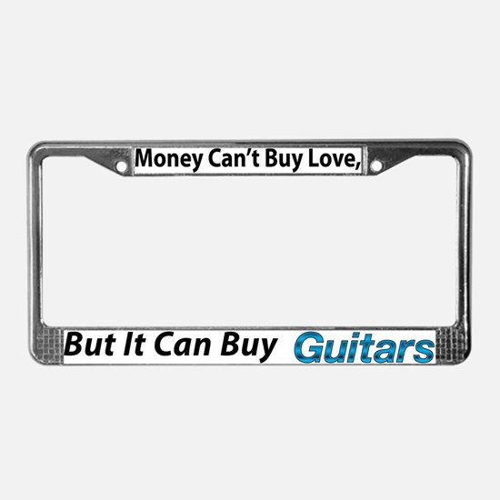 Money&Guitars License Plate Frame