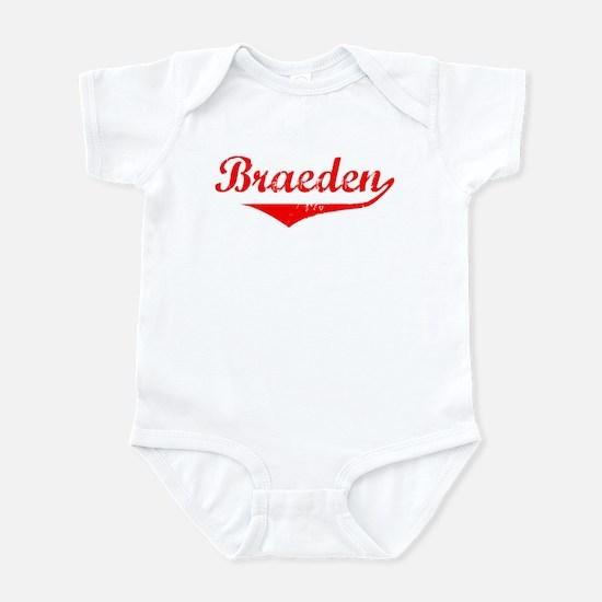 Braeden Vintage (Red) Infant Bodysuit