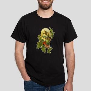 Cute Vintage Christmas Cat Dark T-Shirt