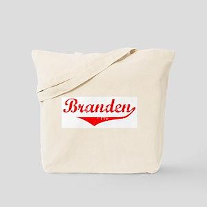 Branden Vintage (Red) Tote Bag