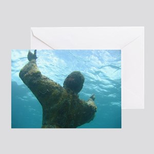 Christ of the Abyss (Horiz) Blank Greeting Card