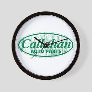Callahan Auto Parts Sandusky Ohio green Wall Clock