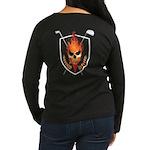 Skull Women's Dark Long Sleeve T-Shirt