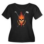 Skull Women's Plus Size Scoop Neck Dark T-Shirt
