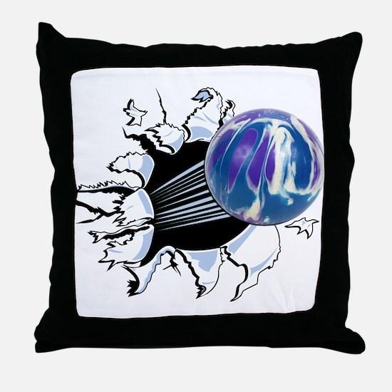 Breakthrough Bowling Ball Throw Pillow