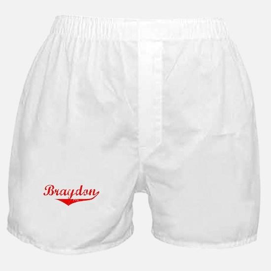 Braydon Vintage (Red) Boxer Shorts