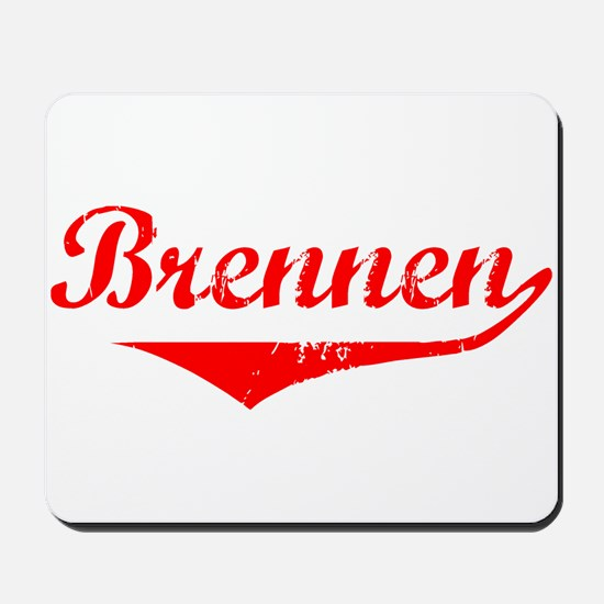 Brennen Vintage (Red) Mousepad