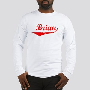 Brian Vintage (Red) Long Sleeve T-Shirt