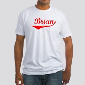 Brian Vintage (Red) Fitted T-Shirt
