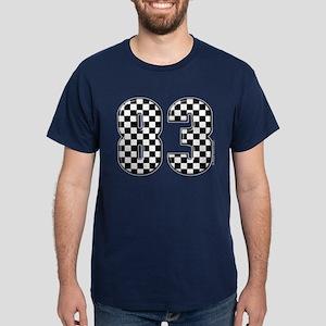 Checkered Number 83 Dark T-Shirt