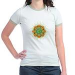 Om Orange/Green Burst Jr. Ringer T-Shirt