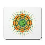 Om Orange/Green Burst Mousepad