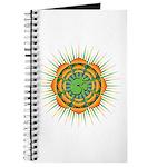 Om Orange/Green Burst Journal