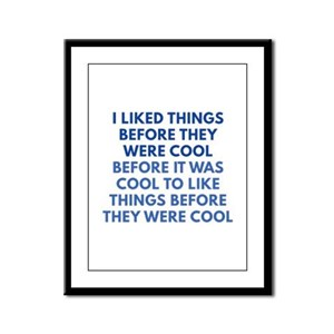 Before They Were Cool Framed Panel Print