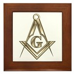 The Square and Compasses Framed Tile