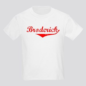 Broderick Vintage (Red) Kids Light T-Shirt